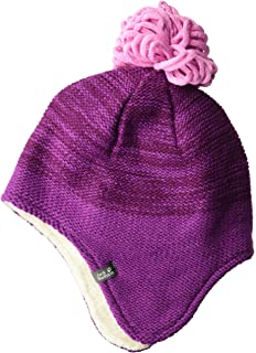 8a5034bef98 Jack Wolfskin Snowflake Kid s Knitted Bonnet with Pom-Pom   Ear Protection  Hat