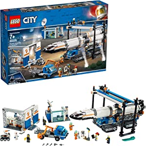 LEGO City Rocket Assembly & Transport 60229 Building Kit, New 2019 (1055 Pieces)