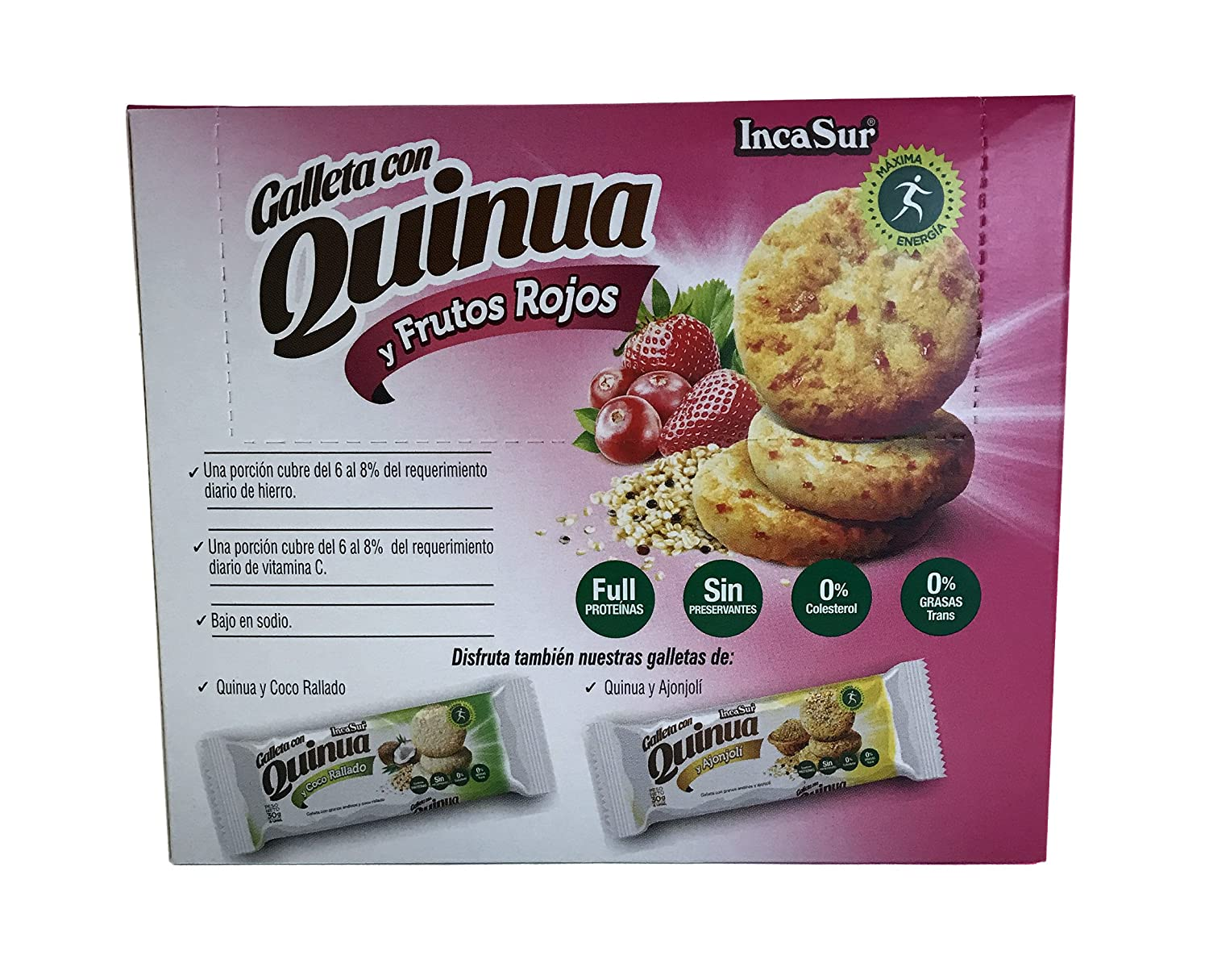 Amazon.com: IncaSur Quinoa Cookies with Red Fruits 6 Count Each - 180 grams Each (2 packs)