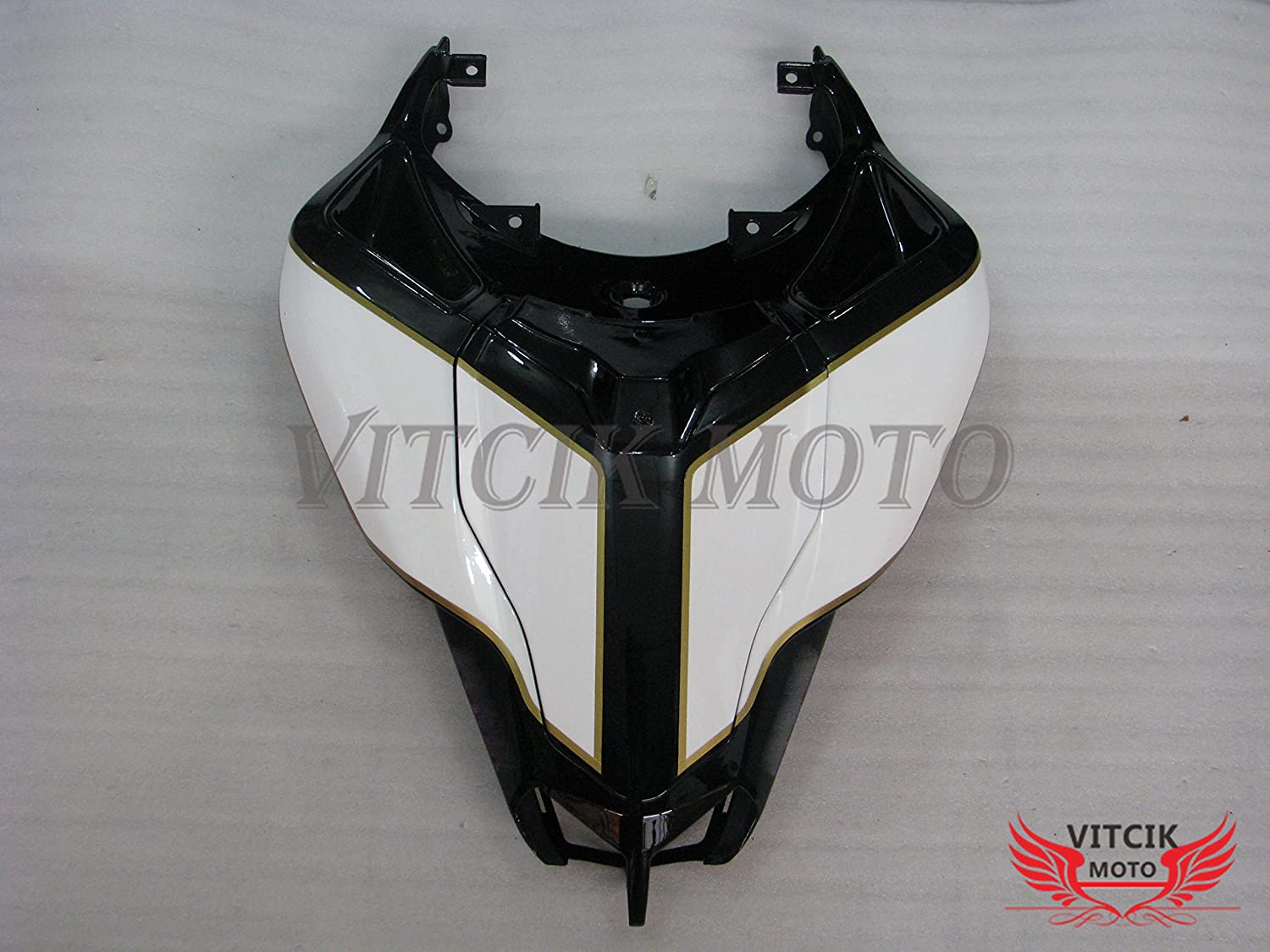 Plastic ABS Injection Mold Complete Motorcycle Body Aftermarket Bodywork Frame Black /& White VITCIK Fairing Kits Fit for DUCATI 1098 848 1198 2007 2008 2009 2010 2011 2012 A005