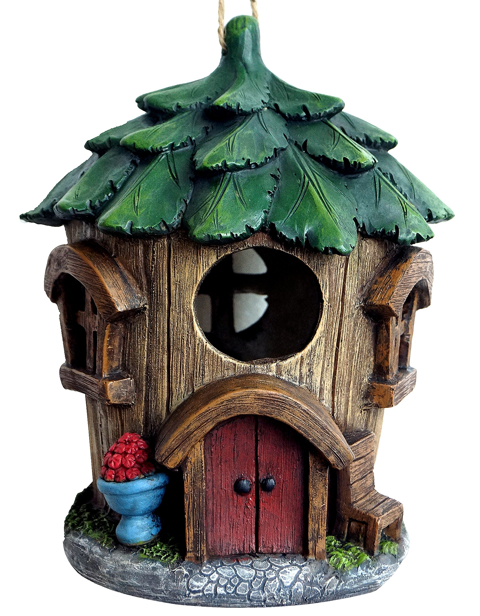 Harmony Fountains The Bright Tree House 9'' Birdhouse - Quaint Woodsy House. HF-BH-002 by