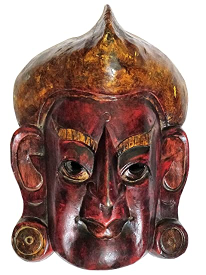 Buy Bhunes Nepali Hand Crafted Wooden Mask Wooden Wall Hanging