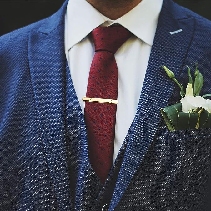 Milacolato 12 Piezas Tie Clips Set for Men Tie Bar Clip Set para ...