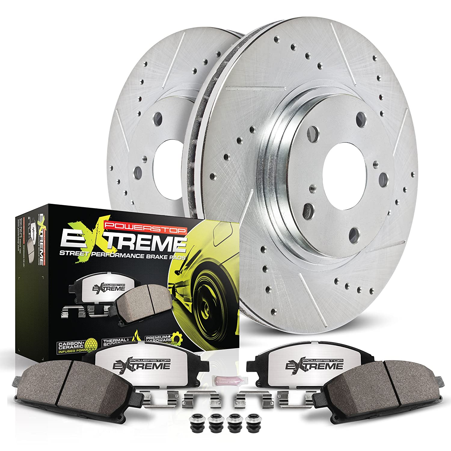 Power Stop K920-26 1-Click Street Warrior Z26 Brake Kit