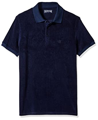 Vilebrequin Mens Terry Cloth Short Sleeve Polo Shirt Size Large Aquamarine Blue Fashionable In Style;