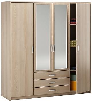 Demeyere Manhattan Armoire 4 portes 3 tiroirs, 200 x 189 x 60 cm ...