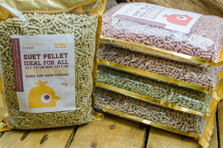 BEAKS wild bird food Mixed suet pellets 5 x 1kg each flavour starmer ltd