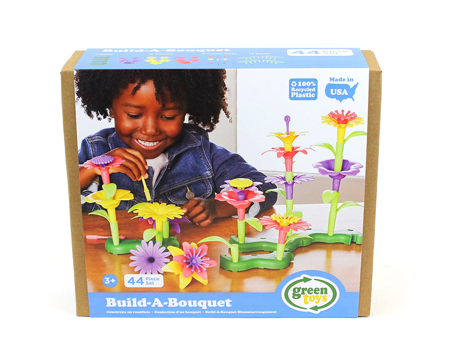 B0762XKND6 Green Toys Build-a-Bouquet Stacking Set, Assorted 814ZRmadcSL