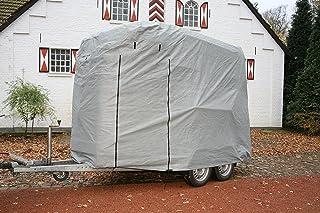 Original CAPA Schutzhaube in grau für 2er Pferdeanhänger Pferdetransporter Pferdehänger als Überzug Schutz Cover Schutzhülle Garage Schutzdach Typ HT-01RSF CAPA Deluxe