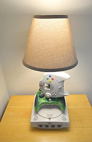 Sega Dreamcast Desk Lamp   Gamer Light Sculpture With Lampshade