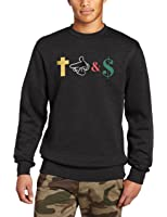 Crooks & Castles Men's Crew Neck Knit Sweatshirt