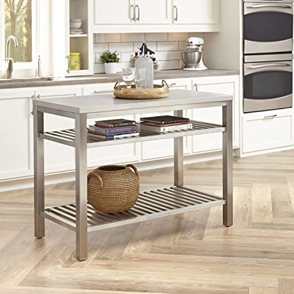 Home Styles 5617 94 Pittsburgh All Stainless Steel Kitchen Island