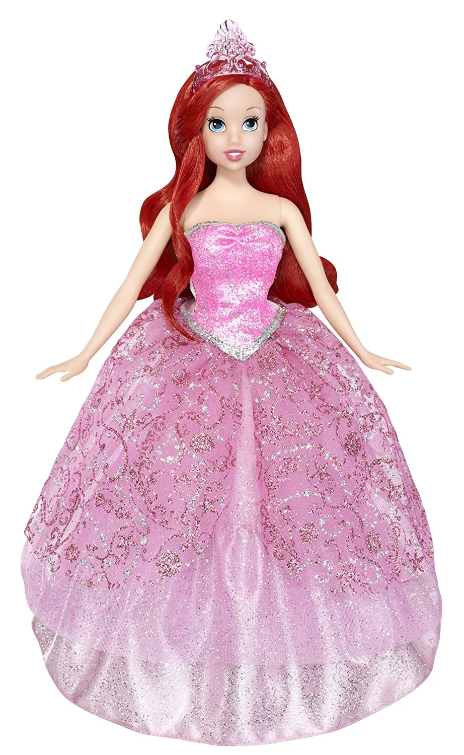 Amazon.com: Mattel Disney Princess 2-In-1 Ballgown Surprise Ariel ...