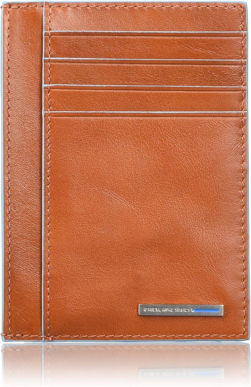 Piquadro Bustina Collezione - Funda para Tarjetas de crédito, 12 cm, Color Azul, Naranja (Naranja) - PP3892B2/AR