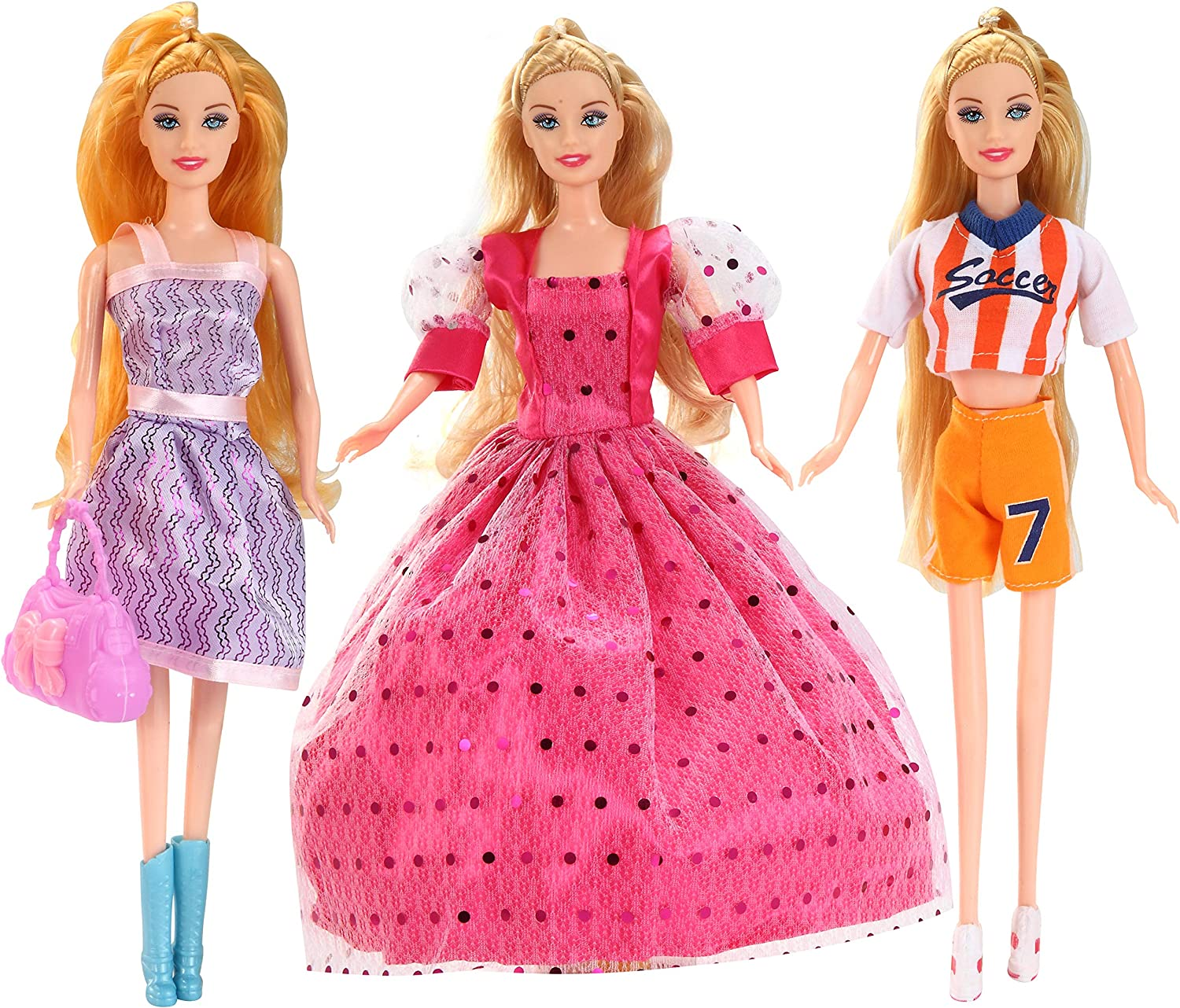 JOYIN 2020 Girls Advent Calendar with Doll Accessorie Toys Girls Christmas 24 Days Countdown Calendar Toys with Doll Dress Up Clothes and Accessories Set