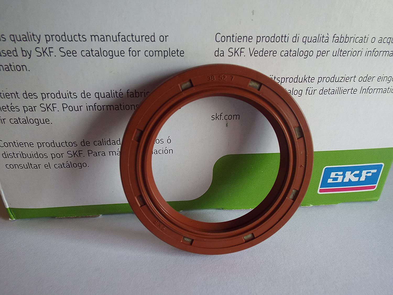 38 x 52 x 7 mm SKF Viton sello de aceite R23//TC labio doble resorte de acero inoxidable