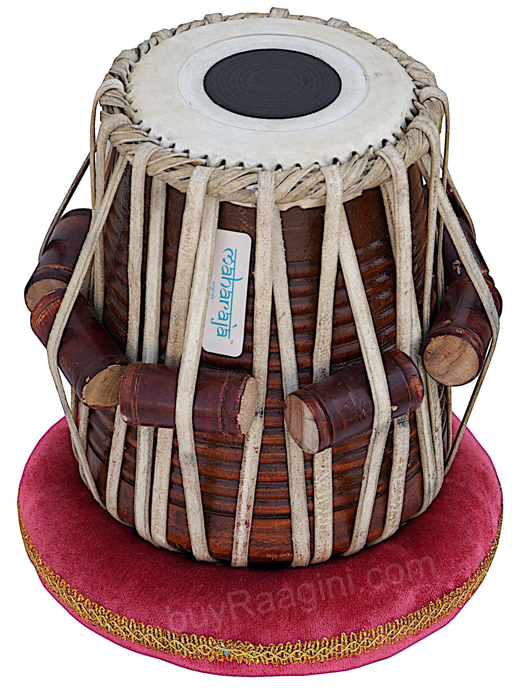 Tabla Set by Maharaja Musicals, Golden Brass Bayan 3Kg, Sheesham Dayan Tabla, Nylon Bag, Hammer, Book, Cushions, Cover, Tabla Indian Drums (PDI-CH) by Maharaja Musicals (Image #5)