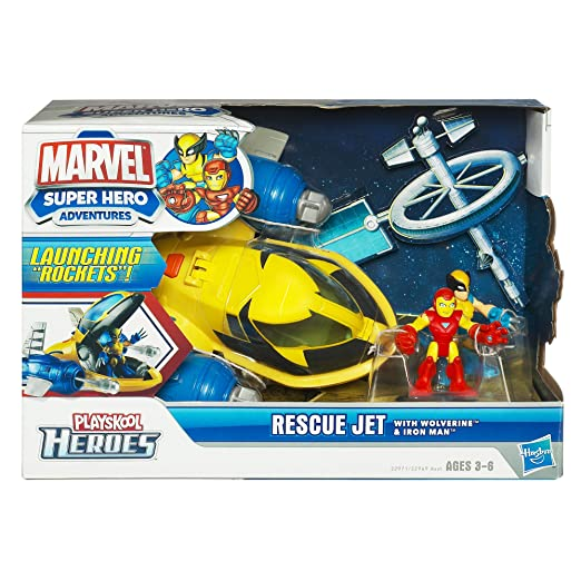2 opinioni per Marvel Super Hero Adventures Playskool Heroes, Rescue Jet with Wolverine and