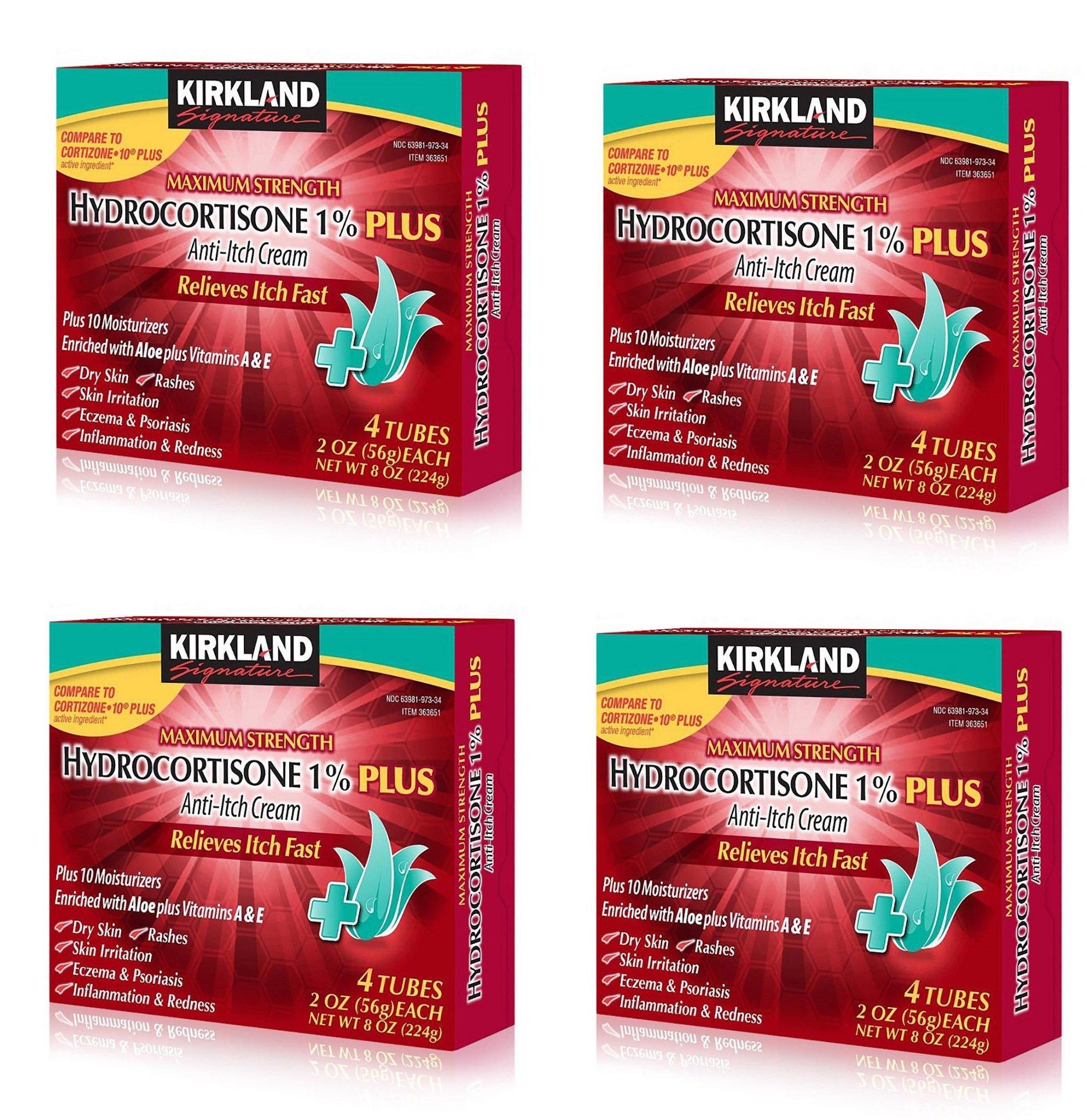 Kirkland Signature Maximum Strength Hydrocortisone Cream 1 percent with Aloe, 2 oz, 16 pack