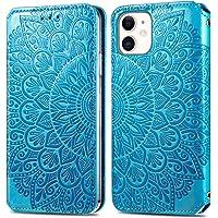 """Hoesje voor iPhone 11 (6.1"""") Hoesje Flip,Soft PU Leather Shockproof Magnetische Stand Kaarthouder Beschermende Telefoon…"""