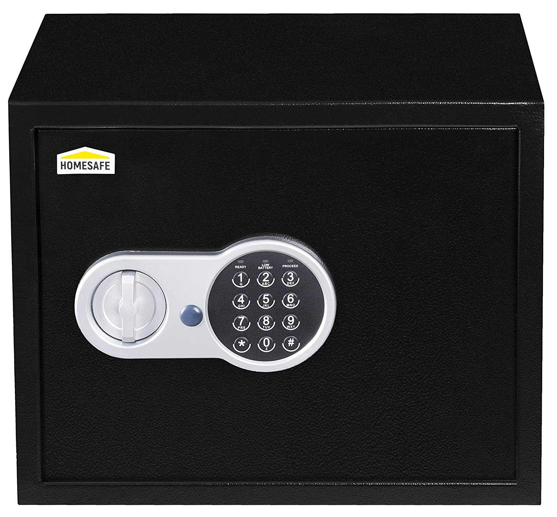 Homesafe HV52E Cassaforte Elettronica, 52x40x36cm (HxWxD), Nero di Carbonio