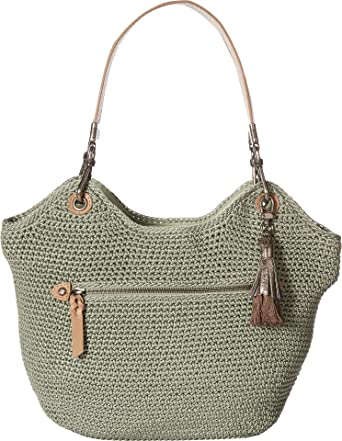 The Sak107268 - cartera de ganchillo indio Para mujer, Verde (Seafoam), Talla única: Amazon.es: Zapatos y complementos