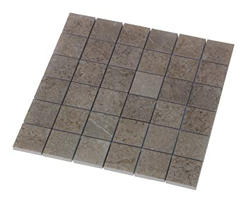 Schon U0026quot;Block In Beigeu0026quot; Mosaik 4,7x4,7 Cm, Feinsteinzeug Fliese