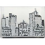 Stampendous NKCFS03 Urban Scribble Nstudio Stamp & Stencil Set, Grey