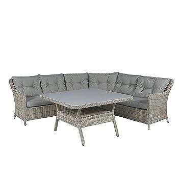 Amazon De Pure Garden Living Loungeset Polyrattan Essgruppe