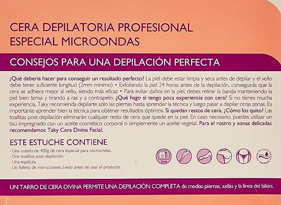 Taky Sensaciones Cera Divina Corporal - Bandas depilatorias, 400 ...