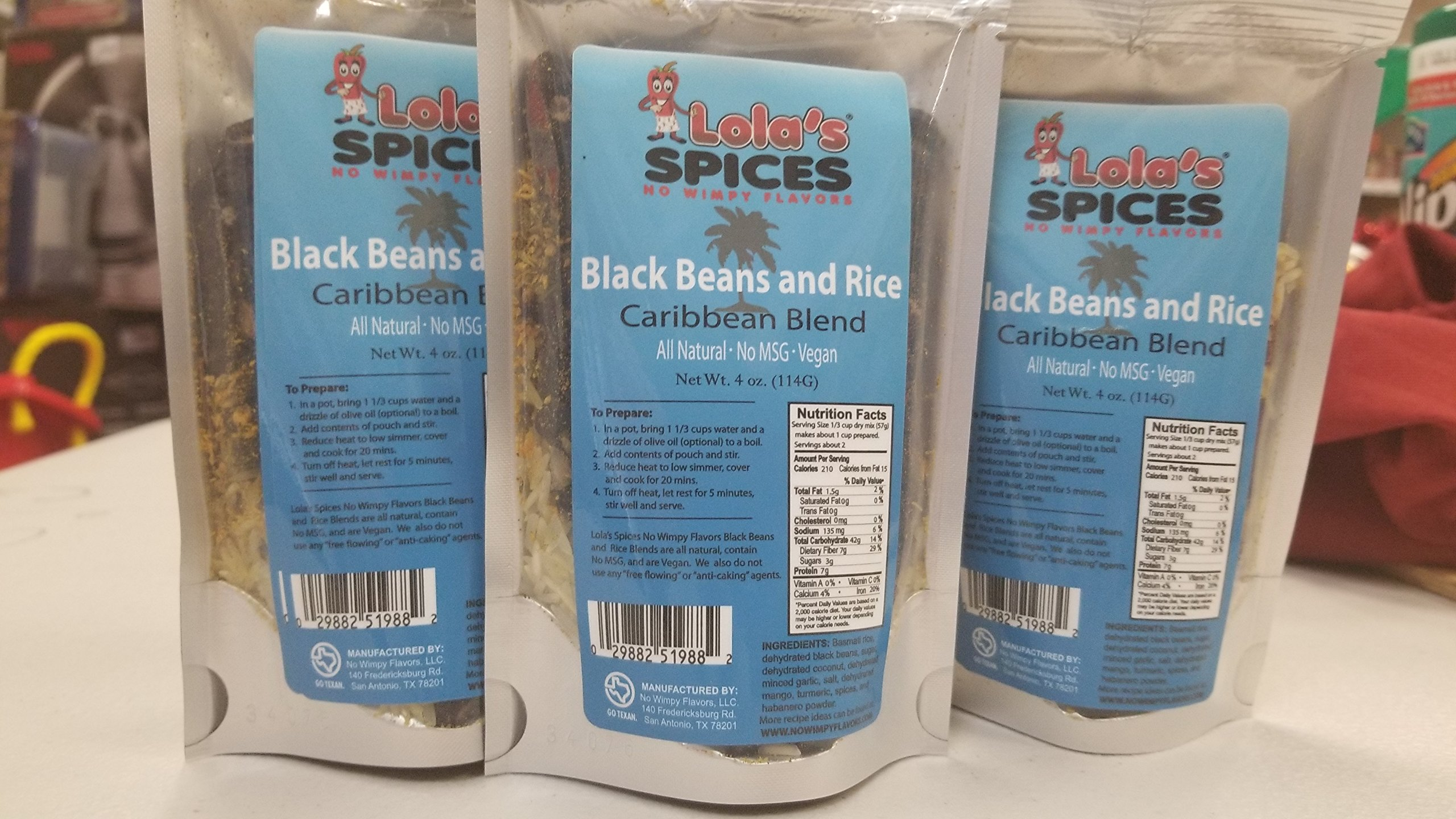 Lola's Spices Caribbean Black Beans and Rice (6 Units)