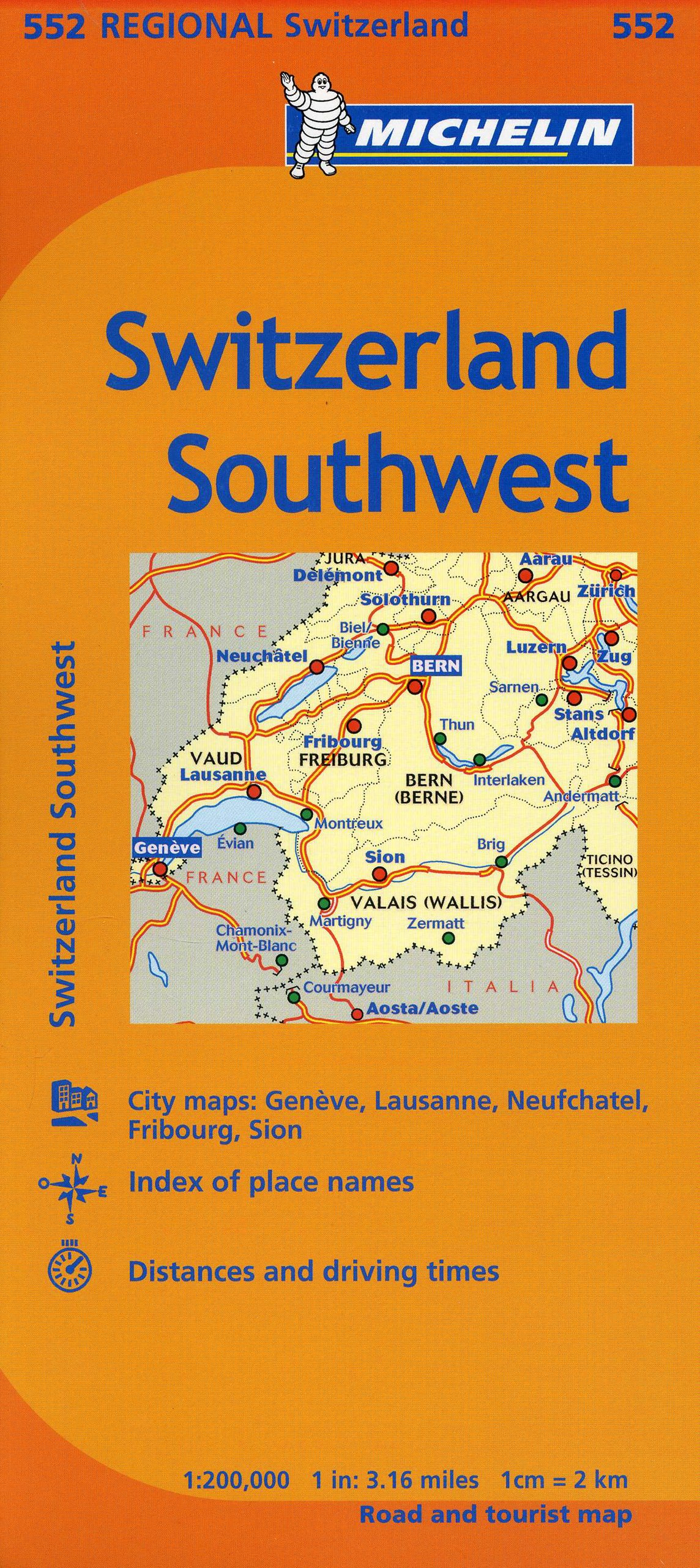 Michelin Switzerland Southwest Map 552 MapsRegional Michelin