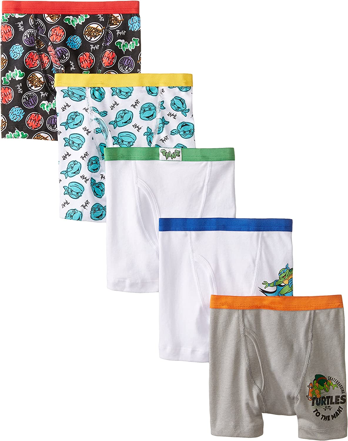Nickelodeon Toddler Boys' Teenage Mutant Ninja Turtles 5pk Boxer Brief, TB Assorted, 2T/3T