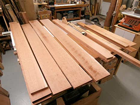 Cherry Rough Sawn Wood Board Lumber 5 In Wide X 5 Ft Length X 1 In