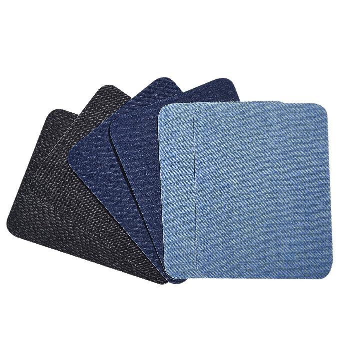 12 Piezas Parches Termoadhesivos Parches de Vaqueros Kit de Reparación de Pantalones, 5 por 3-3/ 4 Pulgadas
