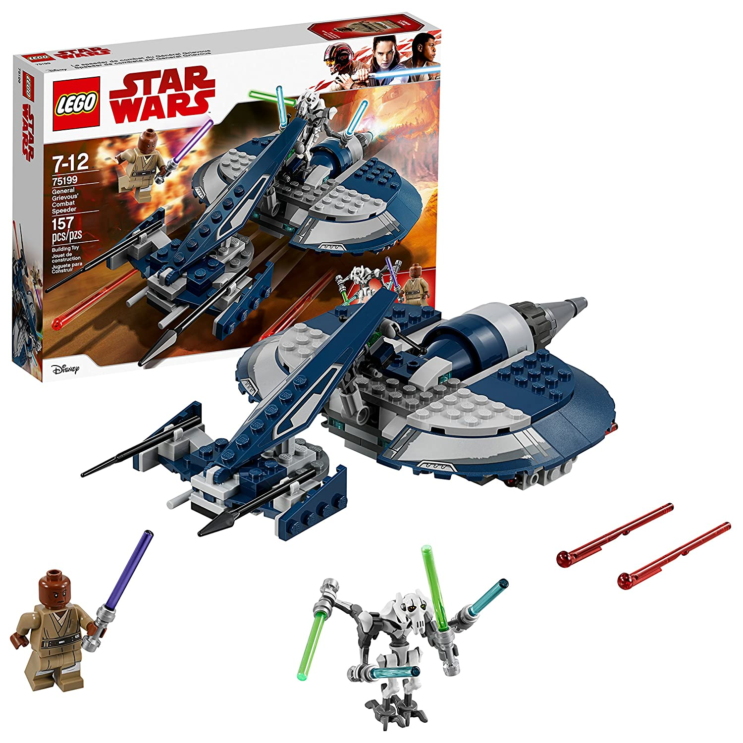 LEGO Star Wars 6212558 General Grievous' Combat Speeder 75199 Building Kit (157 Piece)