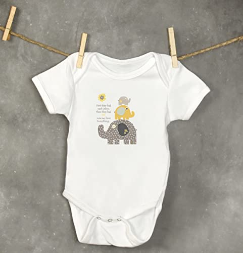 14bded8752dd Amazon.com  Baby Elephant Onesie • Infant Bodysuit • Fun Animal Baby Outfit  • Baby Bodysuits • Unique Boutique Quality • Gray and Yellow 6-24M  Handmade