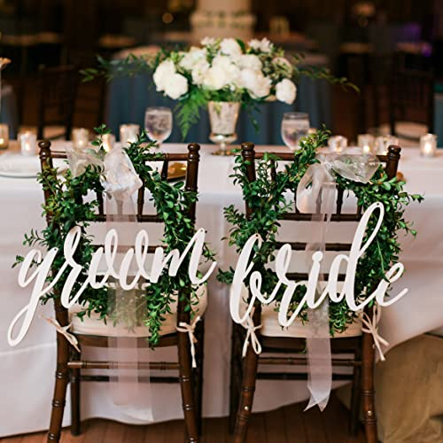 Amazon chair back signs bride groom calligraphy wedding chair back signs bride groom calligraphy wedding decor junglespirit Image collections