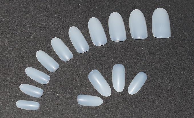 600 piezas de largo Oval clavos 10 tamaños – falso uñas Consejos largo full, Natural opaco acrílico uñas postizas para uñas de estética y – libre de ...