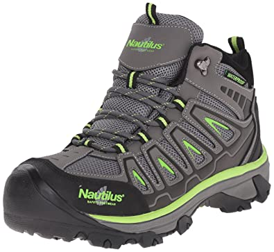 Nautilus 2202 Light Weight Mid Waterproof Safety Toe EH Hiking Shoe, Grey,  8 W