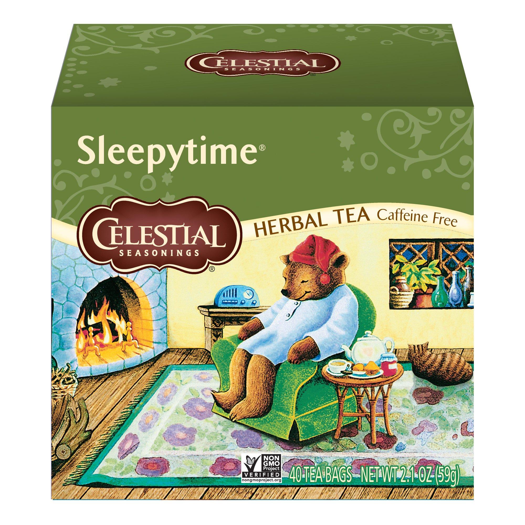 Celestial Seasonings Herbal Tea, Sleepytime, 40 Count Box (Pack of 6) by Celestial Seasonings