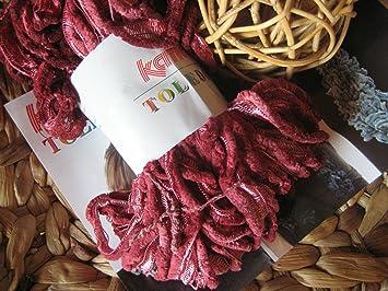 100% de qualité supérieure de style élégant sélectionner pour l'original Toledo Katia Pelote de laine chenille pour écharpe fil 74 ...