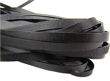Dimensioni: 1 cm x 2,5 mm 1 metro Cinturino piatto in pelle naturale -