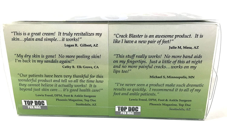 Crack Blaster Repair – Cracked Skin, Heel, Finger Healing Balm and Crack Blaster Revive Dry Skin and Body Cream