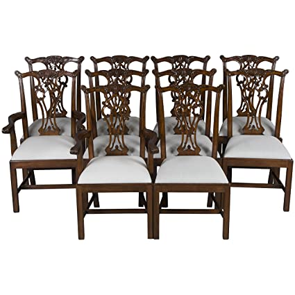 Amazon.com: Juego de 10 King James caoba sillas de comedor ...