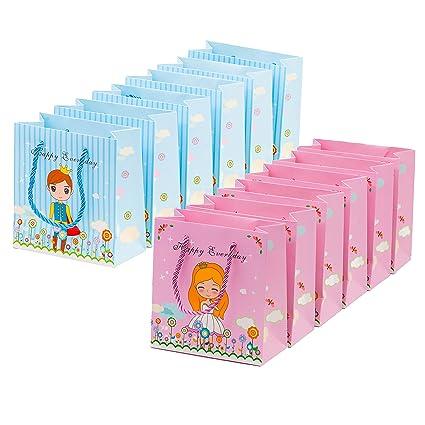 Amazon.com: 12 bolsas de regalo para princesa dulce y ...