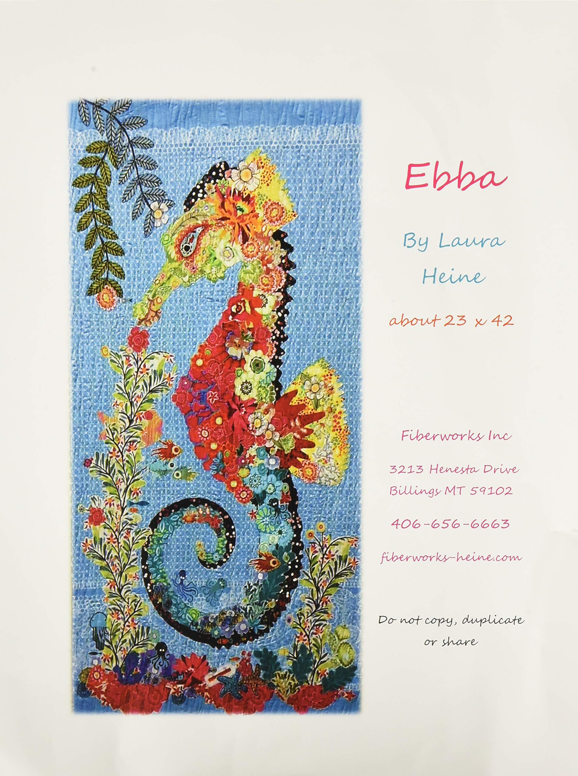 Fiberworks FWLHEB Ebba Seahorse Pattern Finishes 46'' x 63'' by Fiberworks