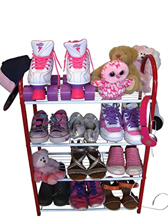Compact Shoe Organizer Rack Ladies Or Kids Shoe Racks For Closet Or  Entryway Smart