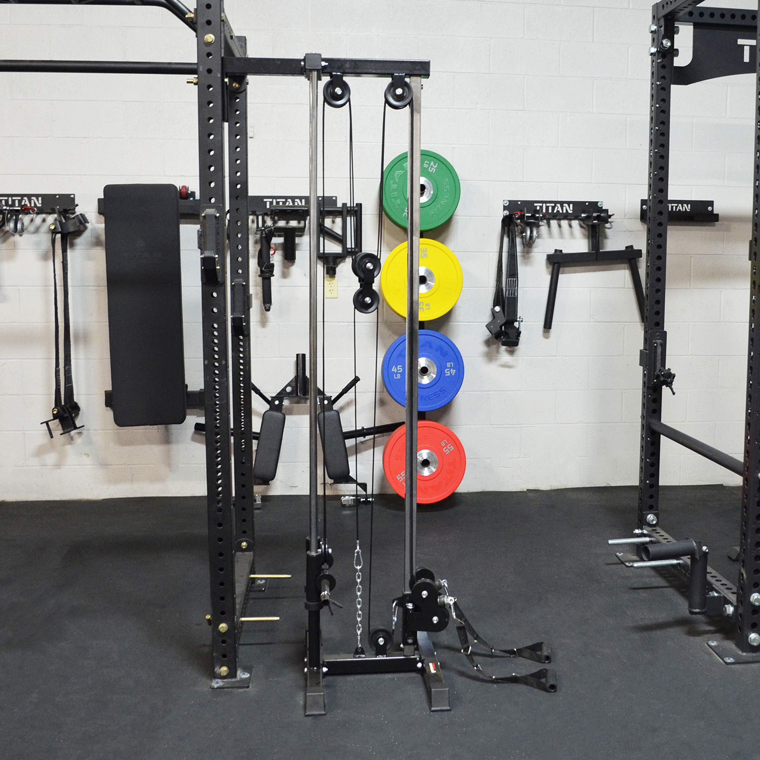 Titan Fitness Wall Mounted Pulley Tower | Tall | V2 by Titan Distributors Inc. (Image #3)