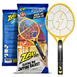 Zap-It! Bug Zapper - Rechargeable Mosquito, Fly Killer and Bug Zapper Racket - 3000 Volt - USB Charging, Super-Bright LED Light to Zap in the Dark - Unique 3-Layer Safety Mesh That's Safe to Touch